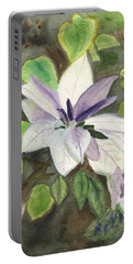 Portable Battery Charger featuring the painting Blossom At Sundy House by Donna Walsh