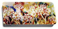 Portable Battery Charger featuring the painting Blossom Morning by Winsome Gunning