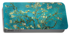 Portable Battery Charger featuring the painting Blossoming Almond Tree by Van Gogh