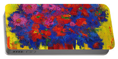 Portable Battery Charger featuring the painting Blossoming Joy by Patricia Awapara