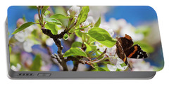 Blossoms And Butterfly Portable Battery Charger