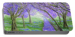 Portable Battery Charger featuring the mixed media Blossoms by Angela Stout