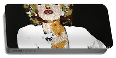 Blow Me A Kiss Marilyn Monroe In The Mix Portable Battery Charger