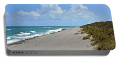 Portable Battery Charger featuring the photograph Blowing Rocks Preserve Beach by Carol Bradley
