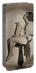 Portable Battery Charger featuring the photograph Blowing Smoke 1922 by Padre Art
