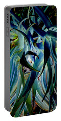 Blue Abstract Art Lorx Portable Battery Charger