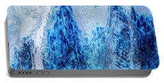 Blue Abstract Two Portable Battery Charger
