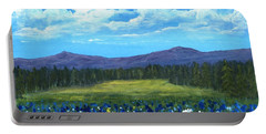 Portable Battery Charger featuring the painting Blue Afternoon by Anastasiya Malakhova