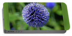 Blue Allium Portable Battery Charger by Terence Davis