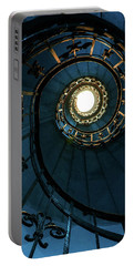 Portable Battery Charger featuring the photograph Blue And Golden Spiral Staircase by Jaroslaw Blaminsky