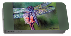 Blue And Green Dragonfly Portable Battery Charger