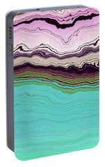 Portable Battery Charger featuring the digital art Blue And Lavender by Matt Lindley