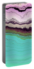 Blue And Lavender Portable Battery Charger by Matt Lindley