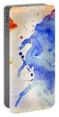 Blue And Orange Color Splash Portable Battery Charger