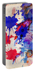 Blue And Red Color Splash Portable Battery Charger