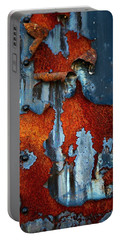 Portable Battery Charger featuring the photograph Blue And Rust by Karol Livote