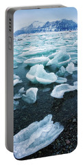 Portable Battery Charger featuring the photograph Blue And Turquoise Ice Jokulsarlon Glacier Lagoon Iceland by Matthias Hauser