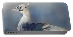 Blue And White Beauty Portable Battery Charger by Kathy Russell