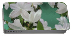 Blue And White Flower Art 2 Portable Battery Charger
