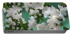 Blue And White Flower Art  Portable Battery Charger