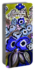 Blue Anemones Portable Battery Charger