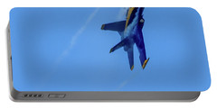 Portable Battery Charger featuring the photograph Blue Angel 5 Contrails by Randy Scherkenbach