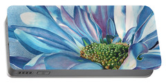 Portable Battery Charger featuring the painting Blue by Angela Armano
