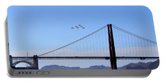 Blue Angels Over Golden Gate Bridge Portable Battery Charger