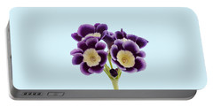 Blue Auricula On A Transparent Background Portable Battery Charger