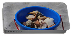 Portable Battery Charger featuring the photograph Blue Beach Bucket by Michiale Schneider