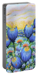 Blue Belles Portable Battery Charger by Holly Carmichael
