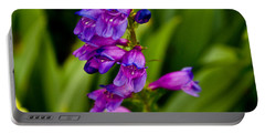 Blue Bells Wild Flower Portable Battery Charger by James Gay