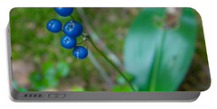 Blue Berries Portable Battery Charger