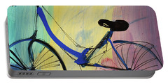 Blue Bicycle Portable Battery Charger by Amara Dacer