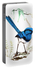 Portable Battery Charger featuring the photograph Blue Bird 001 by Kevin Chippindall