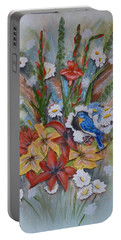 Blue Bird Eats Thru The Painting Portable Battery Charger