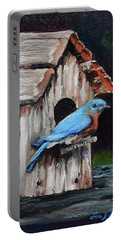 Blue Bird On Lake Odom Portable Battery Charger by Jan Dappen