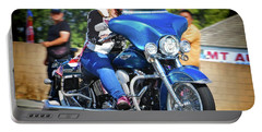 Blue Bling Rider Portable Battery Charger