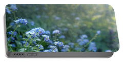 Blue Blooms Portable Battery Charger