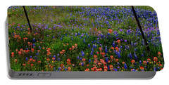 Portable Battery Charger featuring the photograph Bluebonnets #0487 by Barbara Tristan