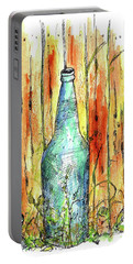 Portable Battery Charger featuring the painting Blue Bottle by Cathie Richardson