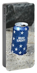 Blue Bud Light Portable Battery Charger