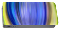 Portable Battery Charger featuring the digital art Blue Bud by Melinda Ledsome