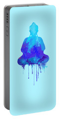 Blue Buddha Watercolor Painting Portable Battery Charger