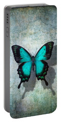 Blue Butterfly Resting Portable Battery Charger