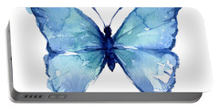 Blue Butterfly Watercolor Portable Battery Charger
