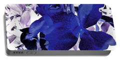 Portable Battery Charger featuring the photograph Blue Canna Lily by Shawna Rowe