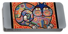 Blue Cat Portable Battery Charger by Jim Harris