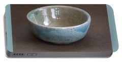 Blue Ceramic Drippy Bowl Portable Battery Charger by Suzanne Gaff