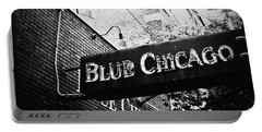 Blue Chicago Nightclub Portable Battery Charger by Kyle Hanson